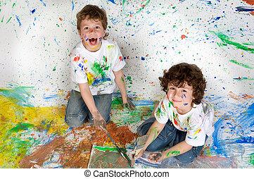 dzieci, malarstwo, interpretacja