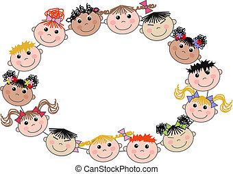 dzieci, mieszany ethnic