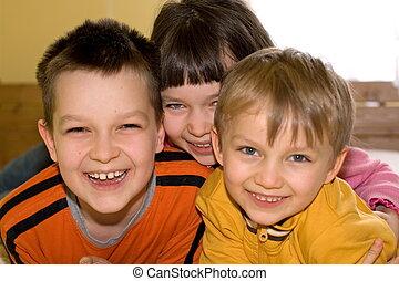 dzieci, szczęśliwy