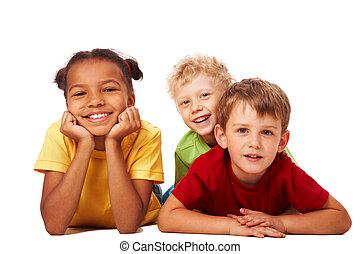 dzieci, trzy