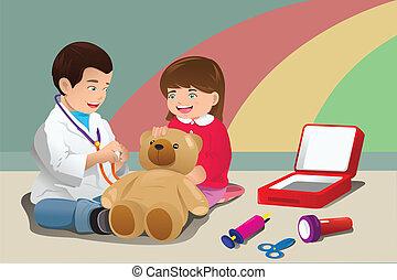 dzieciaki, interpretacja, doktor