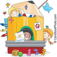 dzieciaki, interpretacja, preschool