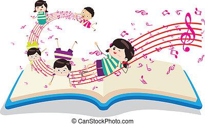 dzieciaki, muzykować książka, szczęśliwy