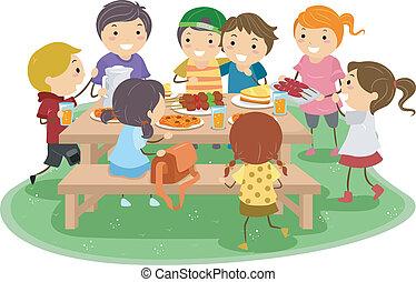 dzieciaki, piknik