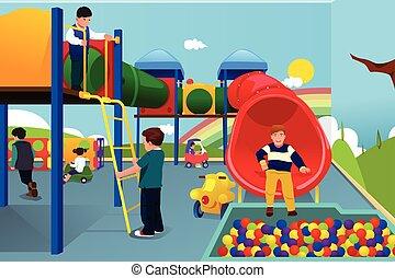 dzieciaki, plac gier i zabaw, interpretacja