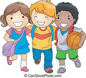 dzieciaki, przyjaciele, student