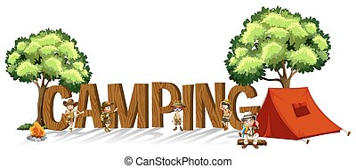 dzieciaki, słowo, obozowanie, projektować, chrzcielnica, namiot