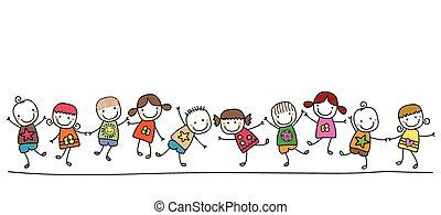 dzieciaki, szczęśliwy