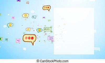 dziecinny, ekran, ruchomy, bańki, towarzyski