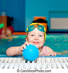 dziecko, kałuża, pływacki