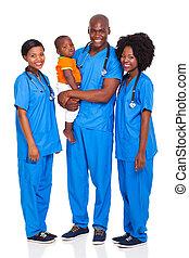dziecko, leczy, grupa, afrykanin