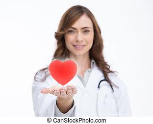 dzierżawa, doktor, czerwone serce