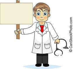 dzierżawa, doktor, zalecać się, sprytny, chłopiec, czysty