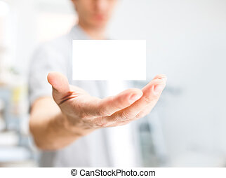 dzierżawa, handlowa karta, człowiek, kopiować przestrzeń, czysty, dof, mały