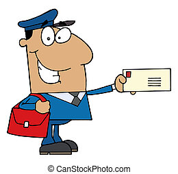 dzierżawa, hispanic człowiek, litera, poczta