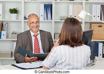 dzierżawa, kandydat, samica, biurko, biznesmen, cv