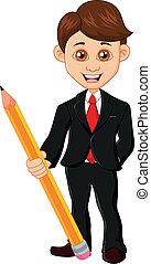 dzierżawa, ołówek, biznesmen