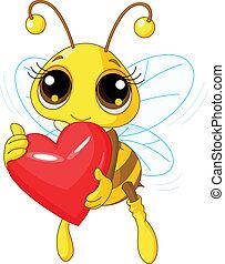dzierżawa, romansowe serce, pszczoła, sprytny