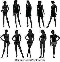 dziewczyna, bielizna, fason, samicza kobieta