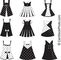 dziewczyna, komplet, strój, koźlę, ikony