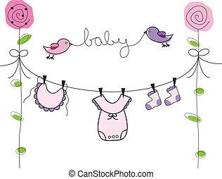 dziewczyna niemowlęcia, kreska, odzież