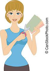 dziewczyna, papier, kunszty