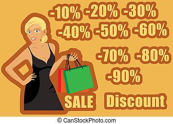 dziewczyna, shoping