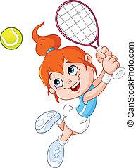 dziewczyna, tenis