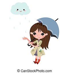 dziewczyna, umbrella.