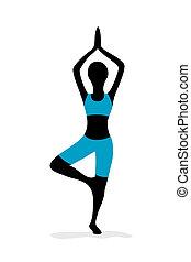 dziewczyna, yoga