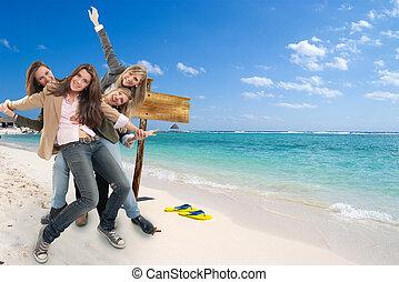 dziewczyny, plaża