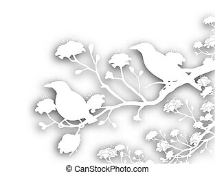 dziki, cutout, ptaszki