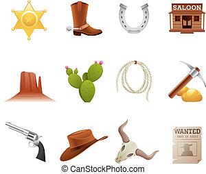 dziki zachód, ikony