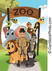 dziki, zookeeper, zwierzęta