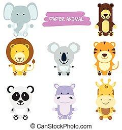 dzikie zwierzęta, rysunek, ilustracja