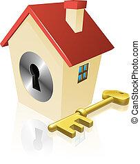 dziurka od klucza, dom, pojęcie, klucz