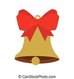 dzwon, łuk, gwiazdkowa ozdoba, wstążka