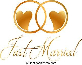 dzwoni, wektor, projektować, właśnie żonaty