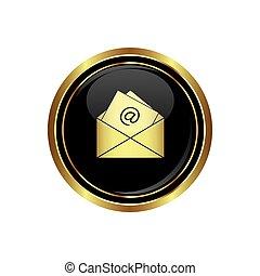 e, ikona, poczta