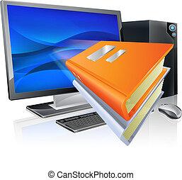 e-oświata, pojęcie, wykształcenie, książka, komputer