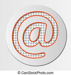e-poczta, abstrakcyjny, ikona