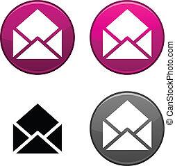 e-poczta, button.