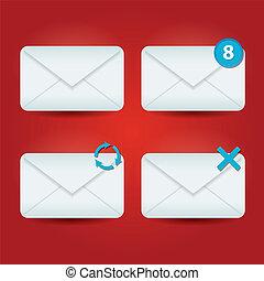 e-poczta, ikony