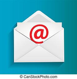 e-poczta, pojęcie, ilustracja, ochrona