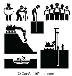 earthwork, budowlaniec, ikony