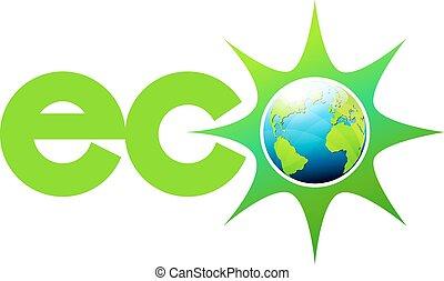 eco, świat, energia, symbol, ikona