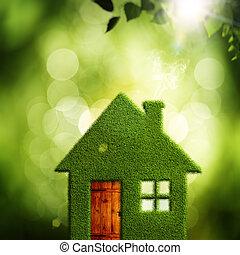 eco, abstrakcyjny, tła, środowiskowy, wieś, projektować, twój
