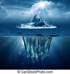 eco, abstrakcyjny, tła, iceberg., projektować, twój