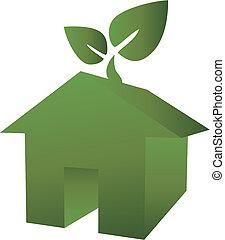 eco, dom, zielony