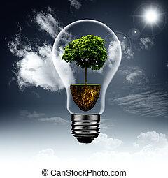 eco, energia, tła, wewnątrz w domu., abstrakcyjny zamiar, twój